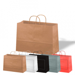 Bolsas de papel - Asa rizada - Horizontales