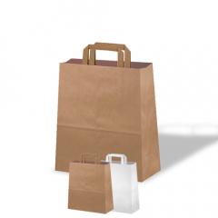 Bolsas de papel - Asa plana Low cost
