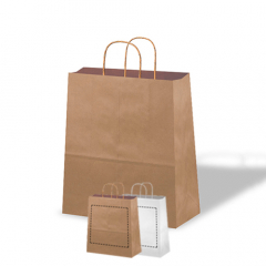 Bolsas de papel - Asa rizada Low cost