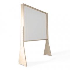 Mamparas de pie con marco de madera