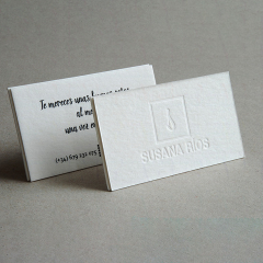 Tarjetas de visita letterpress