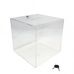 Urna transparente con cerradura