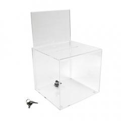 Urna transparente con cerradura y portagráficas A5