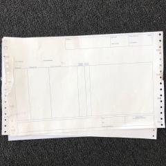 Papel continuo Autocopiativo impreso a una cara 1 tinta sobre 57 gr. + 90 gr. - 120000 unidades