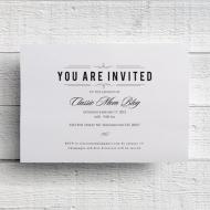 Tarjetas y tarjetones de invitación.