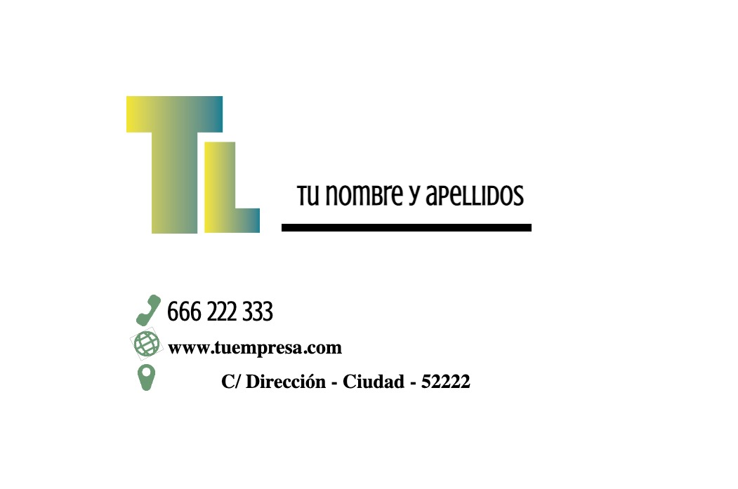 Tarjetas visita blanco 85x55 horizontal color1
