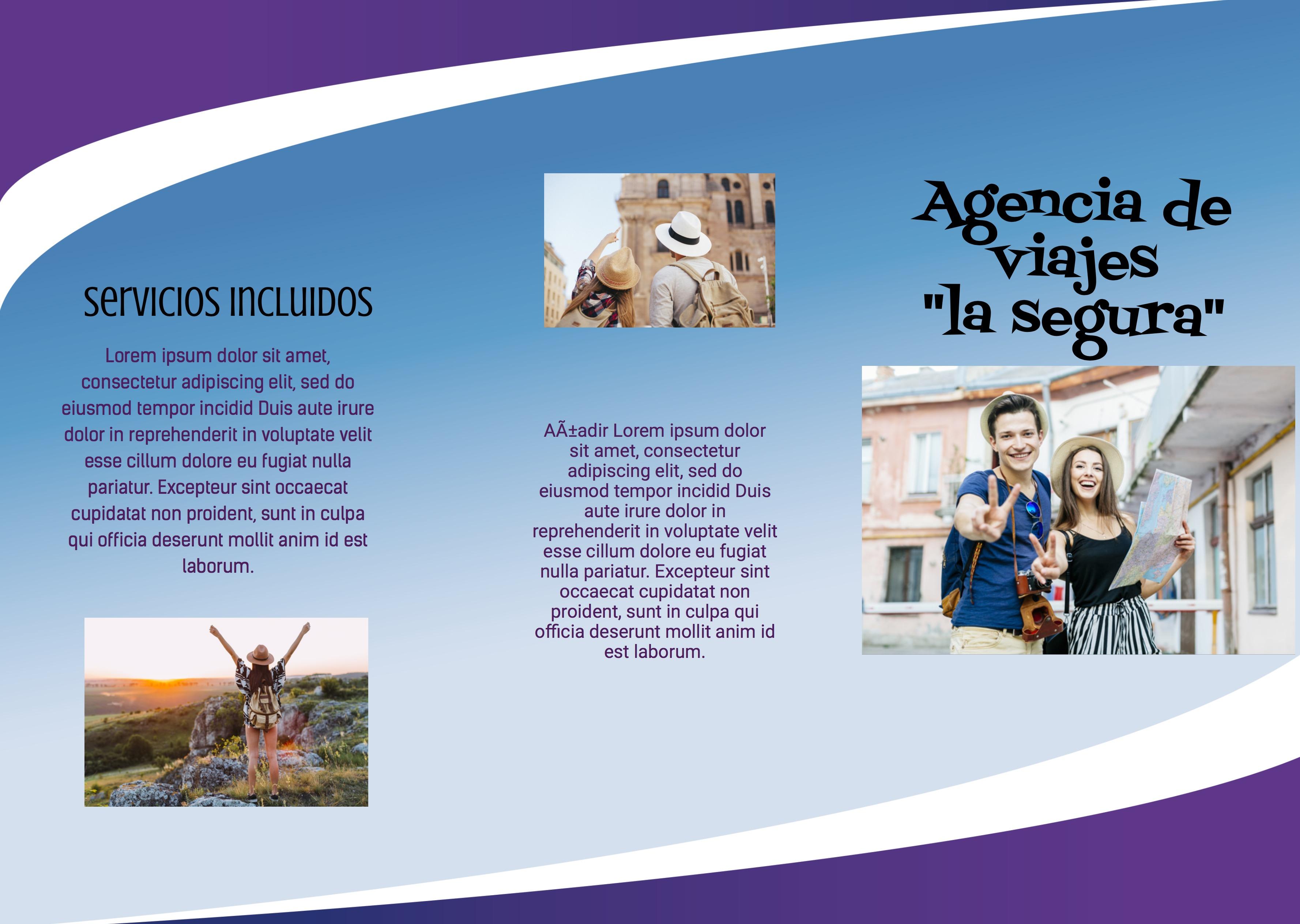 Trípticos agencia de viajes
