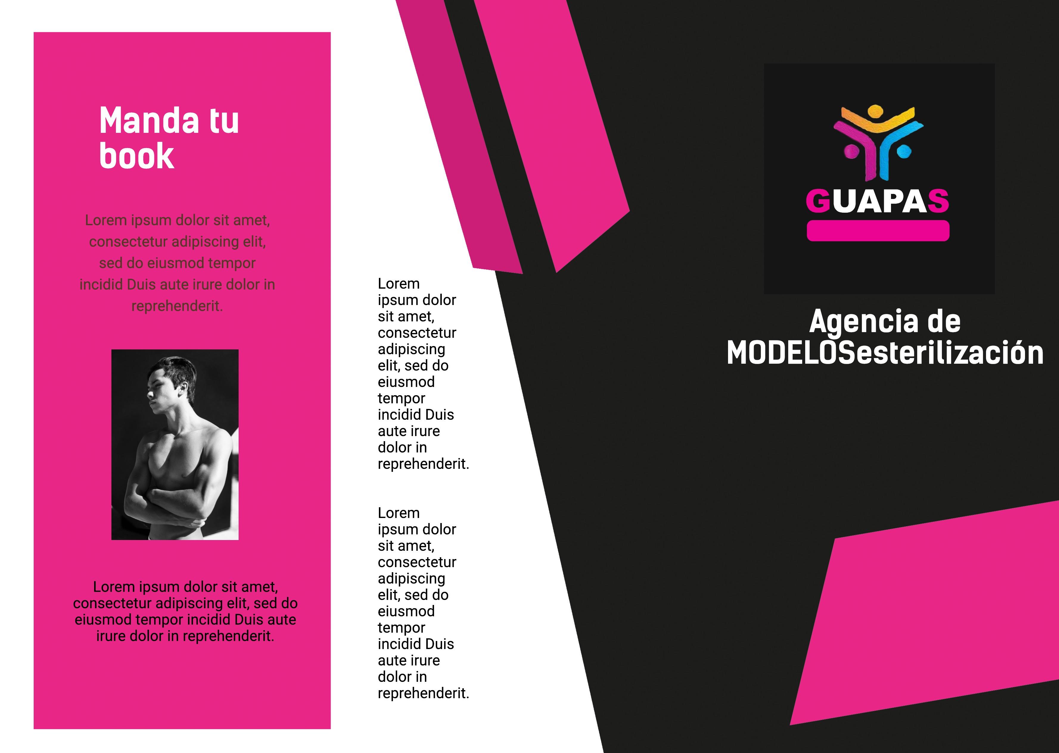 Trípticos agencias de modelos