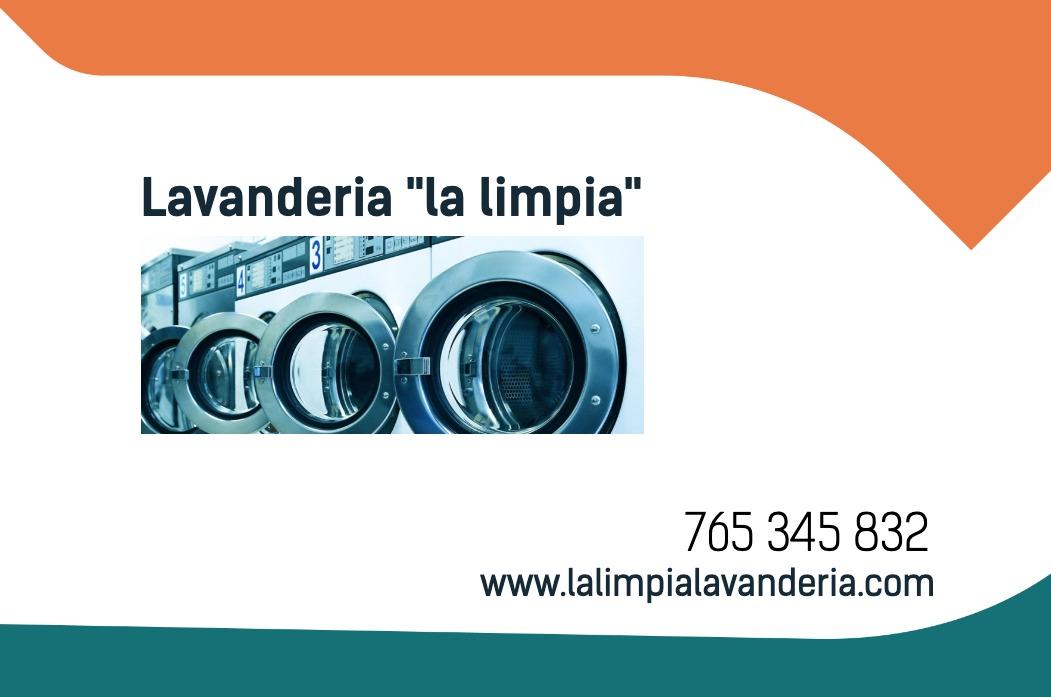 Tarjetas visita blanco 85x55 lavandería