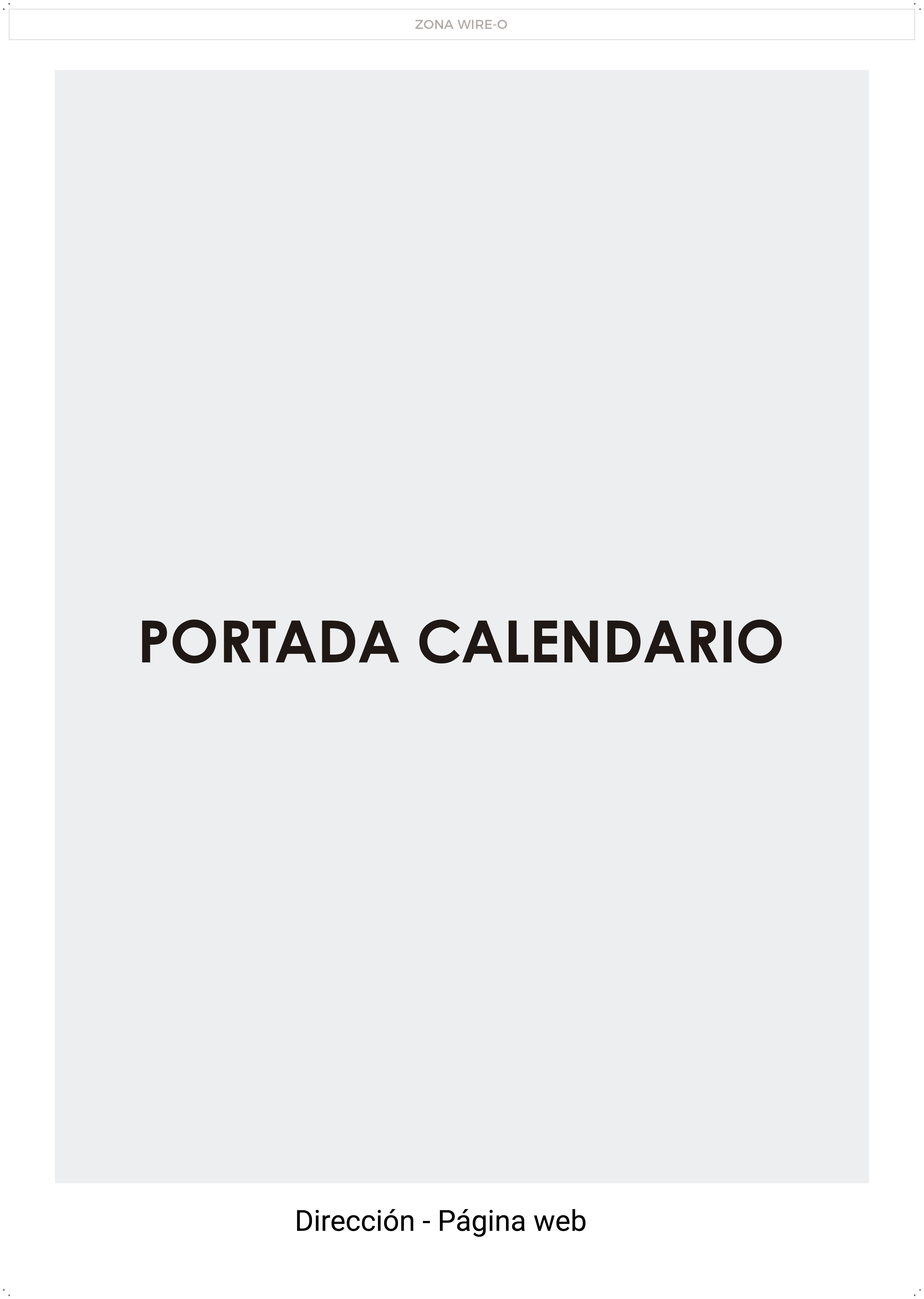 Calendarios pared - Modelo 2