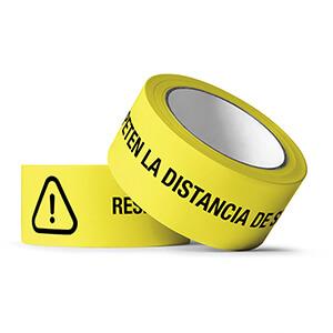 Precinto adhesivo - Distancia de seguridad